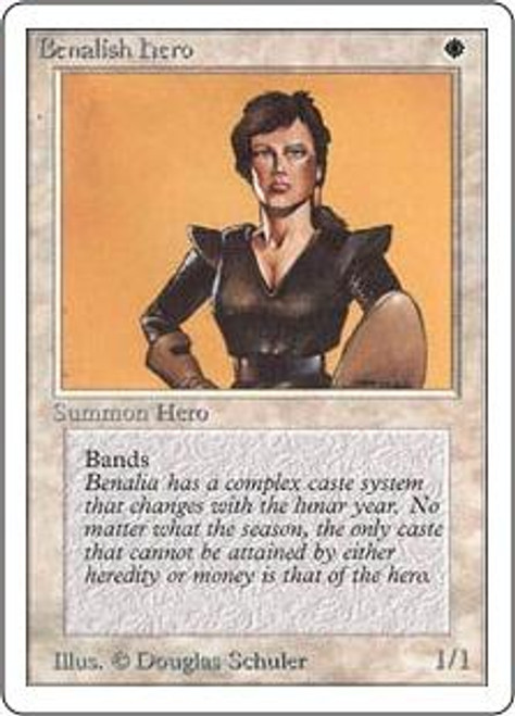MtG Unlimited Common Benalish Hero