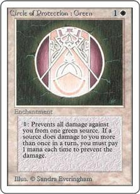 MtG Unlimited Common Circle of Protection: Green