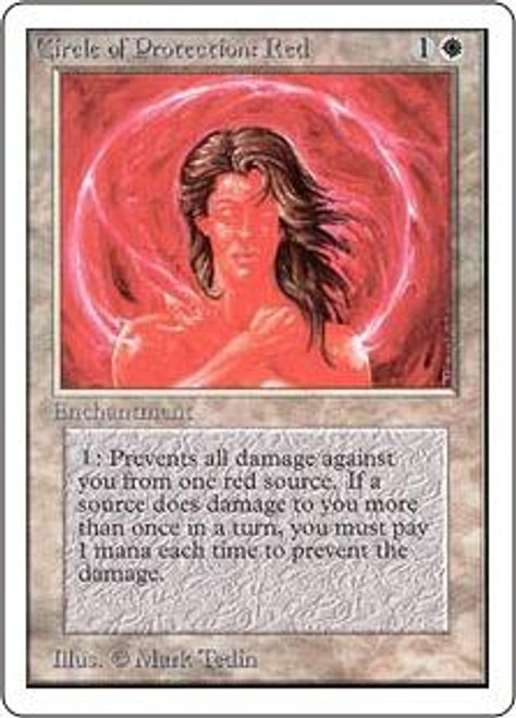 MtG Unlimited Common Circle of Protection: Red