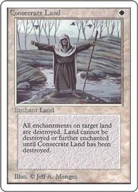 MtG Unlimited Uncommon Consecrate Land