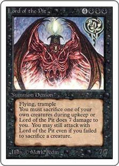 MtG Unlimited Rare Lord of the Pit