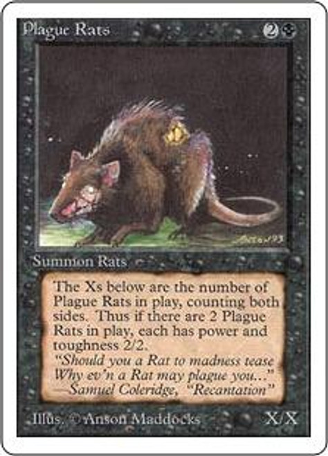 MtG Unlimited Common Plague Rats