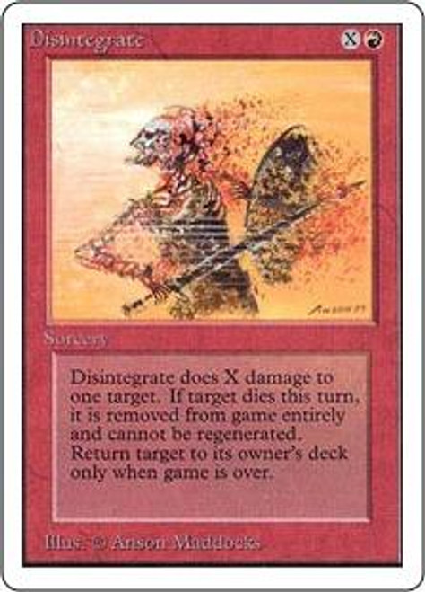 MtG Unlimited Common Disintegrate