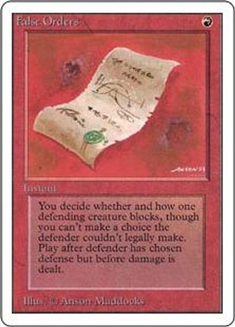 MtG Unlimited Common False Orders