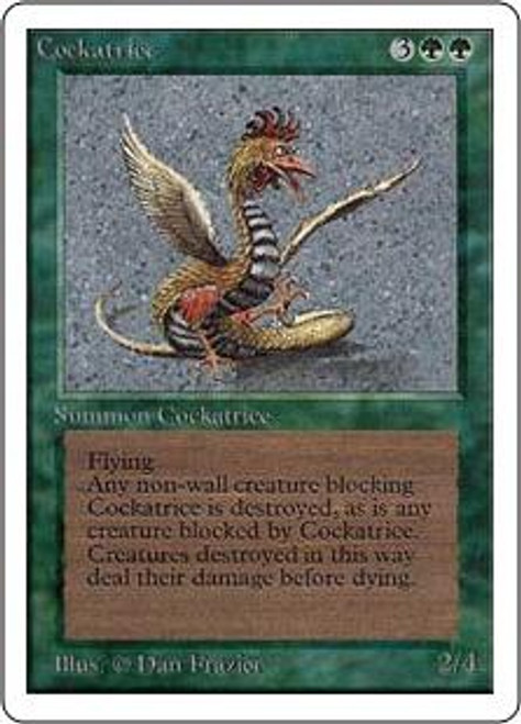 MtG Unlimited Rare Cockatrice [Slightly Played Condition]