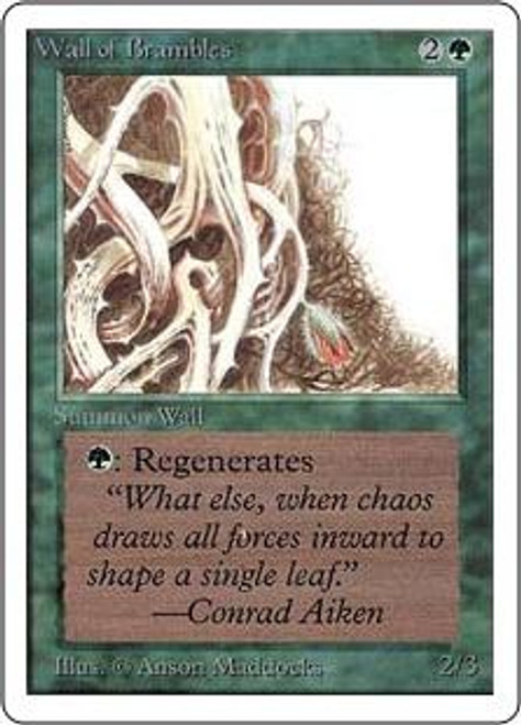 MtG Unlimited Uncommon Wall of Brambles