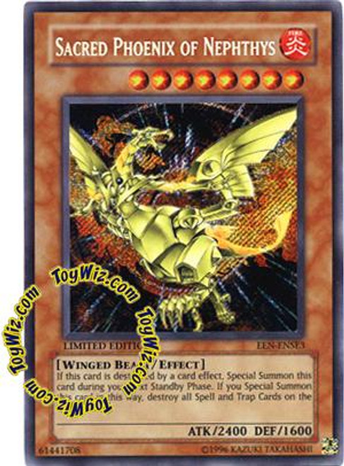 YuGiOh Elemental Energy Special Edition Secret Rare Sacred Phoenix of Nephthys EEN-ENSE3