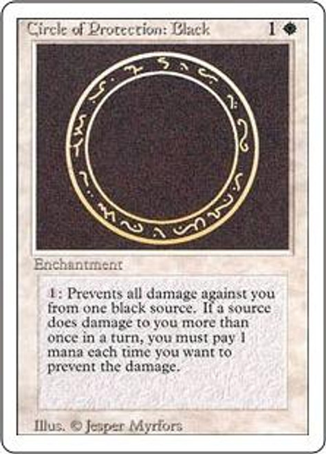 MtG Revised Common Circle of Protection: Black