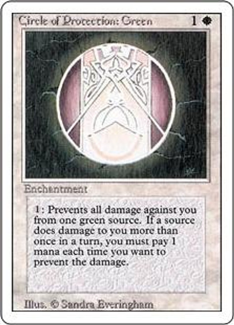 MtG Revised Common Circle of Protection: Green