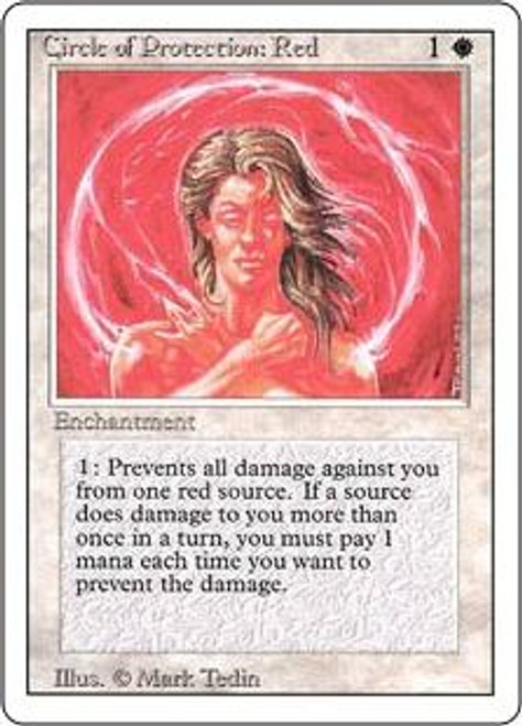 MtG Revised Common Circle of Protection: Red