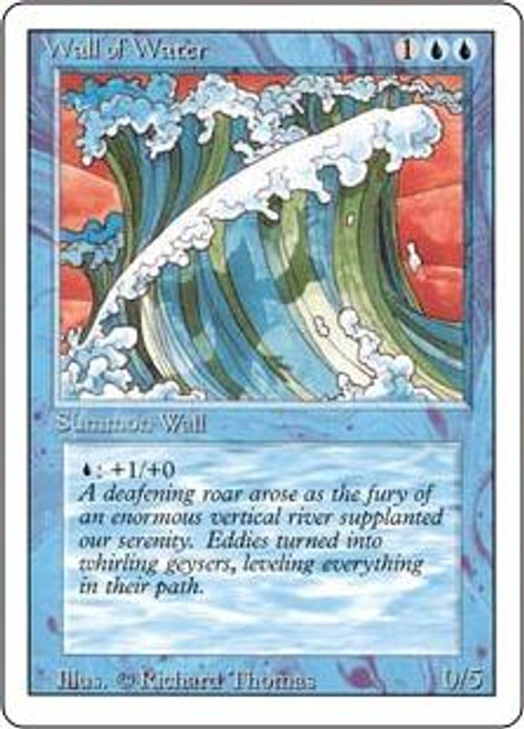 MtG Revised Uncommon Wall of Water [Slightly Played Condition]