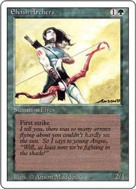 MtG Revised Rare Elvish Archers [Slightly Played Condition]