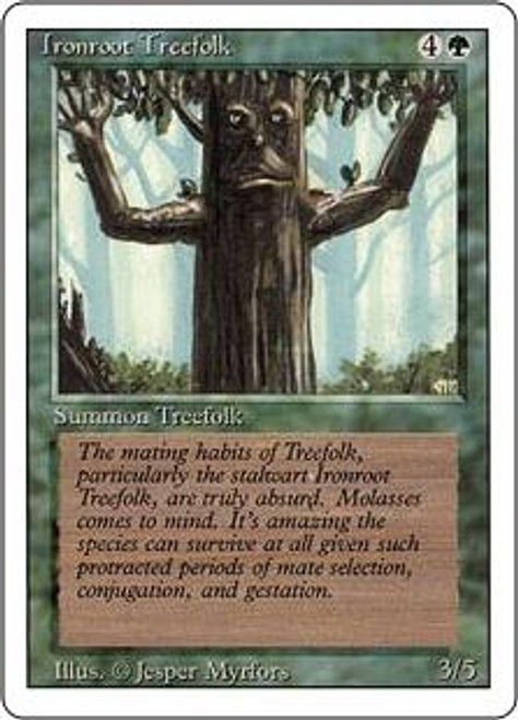 MtG Revised Common Ironroot Treefolk