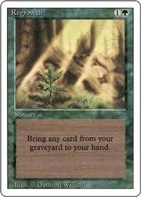 MtG Revised Uncommon Regrowth