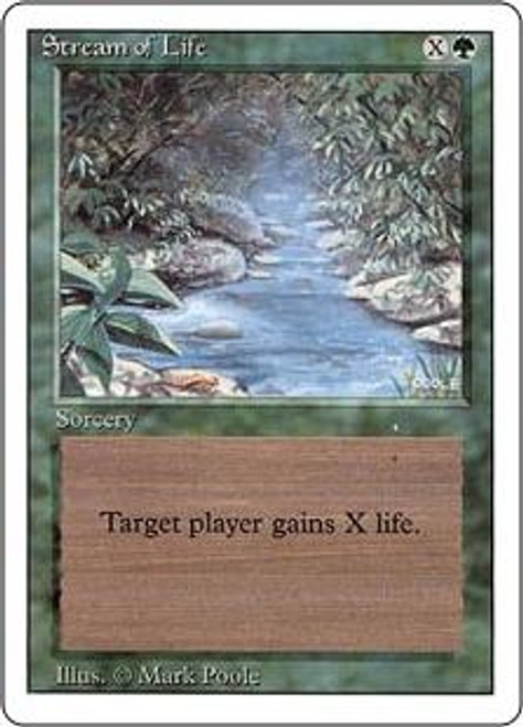 MtG Revised Common Stream of Life