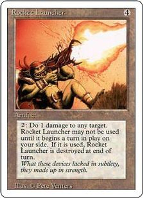MtG Revised Rare Rocket Launcher [Played Condition]