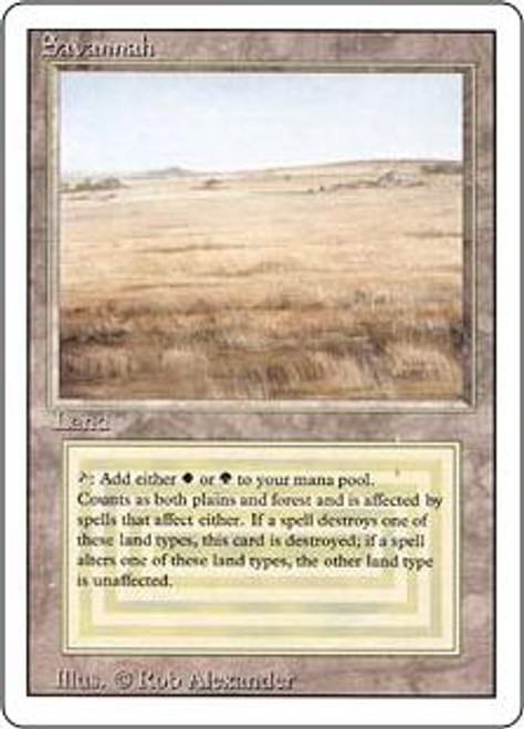 MtG Revised Rare Savannah [Unplayed Condition]