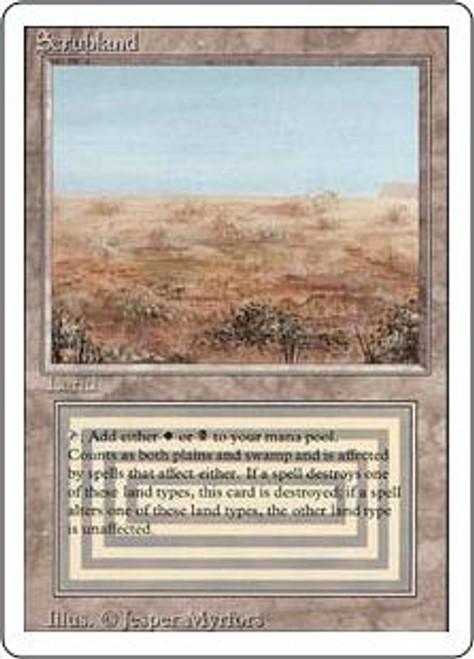 MtG Revised Rare Scrubland