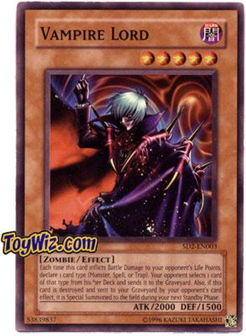 YuGiOh GX Structure Deck: Zombie Madness Common Vampire Lord SD2-EN003