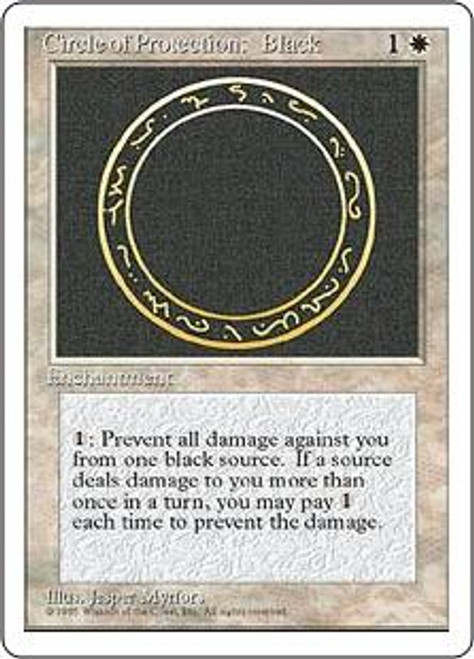 MtG 4th Edition Common Circle of Protection: Black