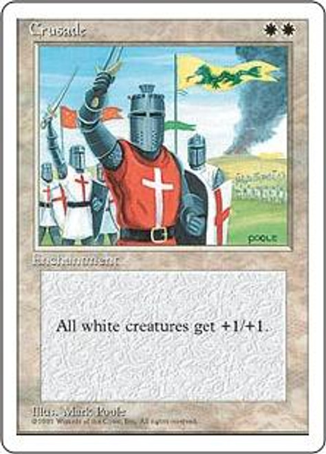 MtG 4th Edition Rare Crusade [Slightly Played Condition]