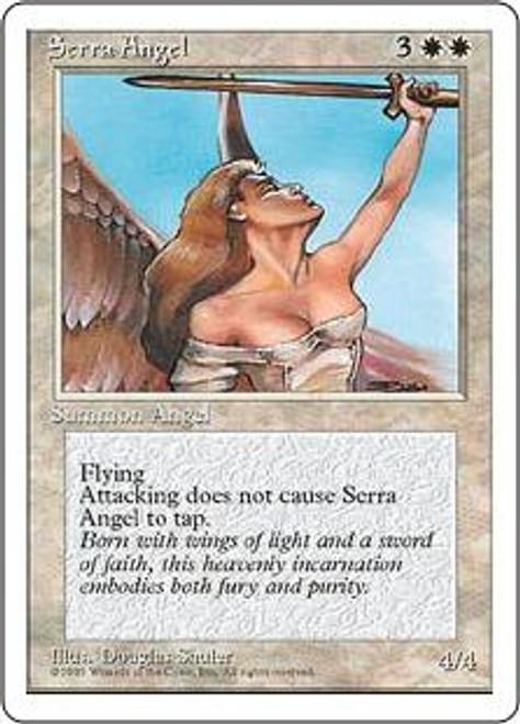 MtG 4th Edition Uncommon Serra Angel [Korean, Signed]