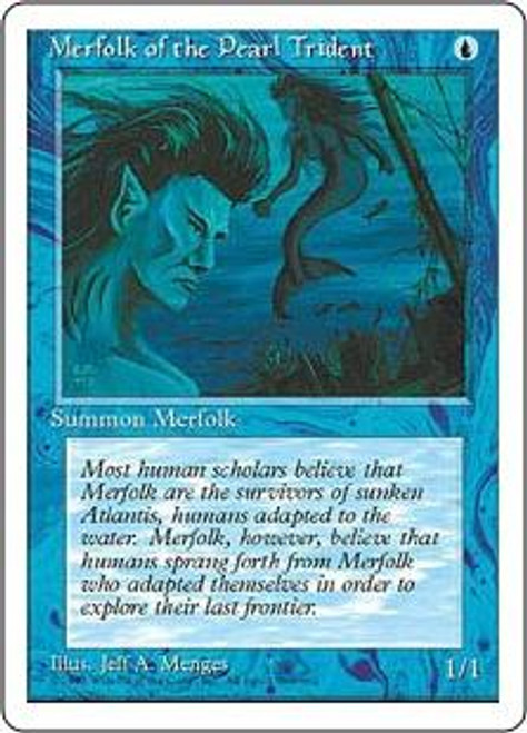 MtG 4th Edition Common Merfolk of the Pearl Trident