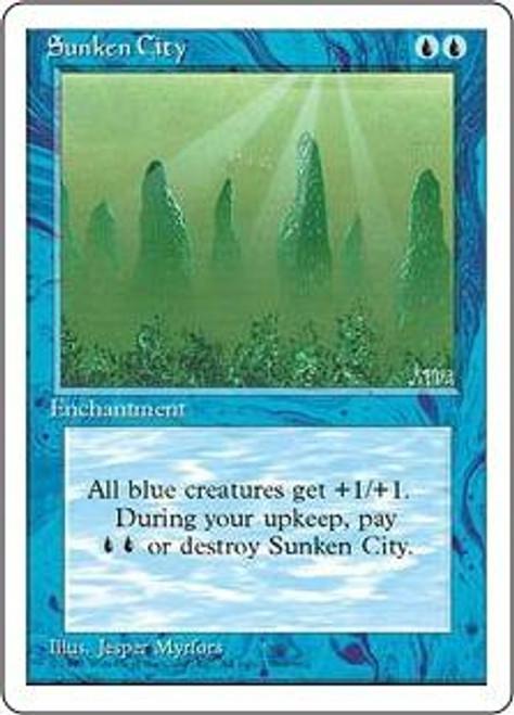 MtG 4th Edition Common Sunken City