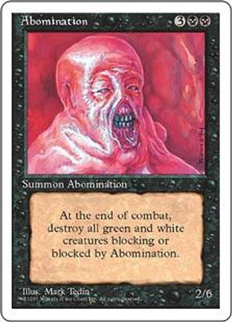 MtG 4th Edition Uncommon Abomination