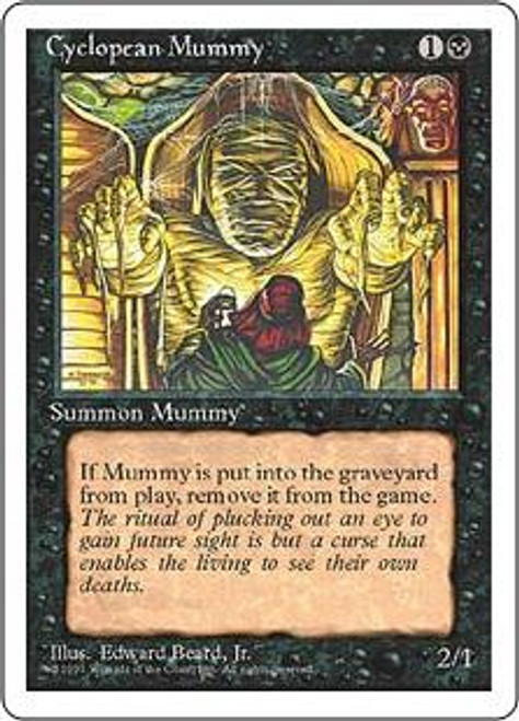 MtG 4th Edition Common Cyclopean Mummy