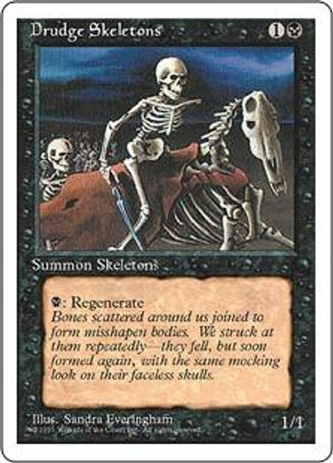MtG 4th Edition Common Drudge Skeletons