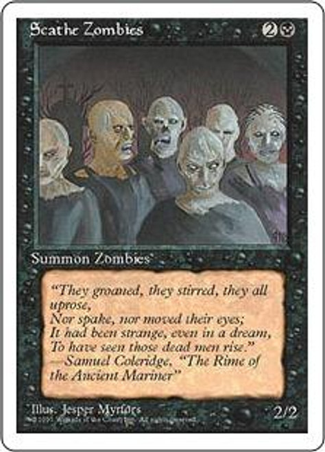 MtG 4th Edition Common Scathe Zombies