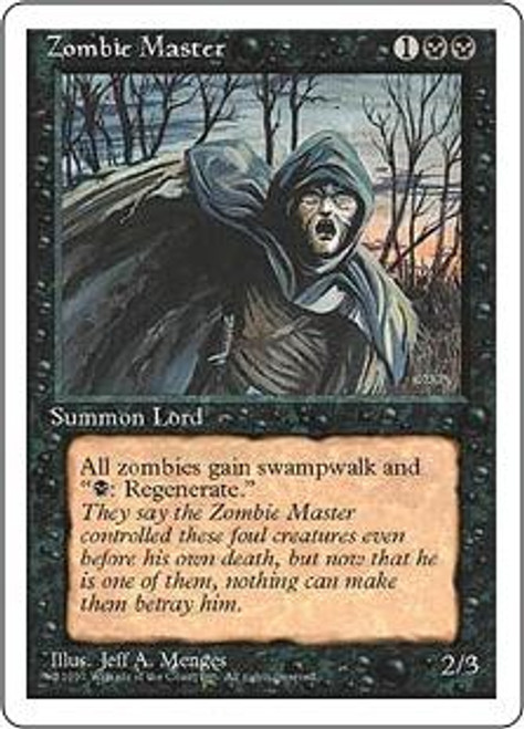 MtG 4th Edition Rare Zombie Master [Slightly Played Condition]