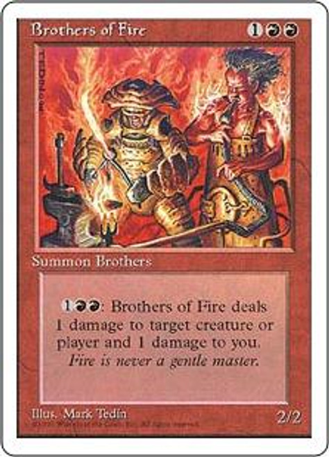 MtG 4th Edition Common Brothers of Fire