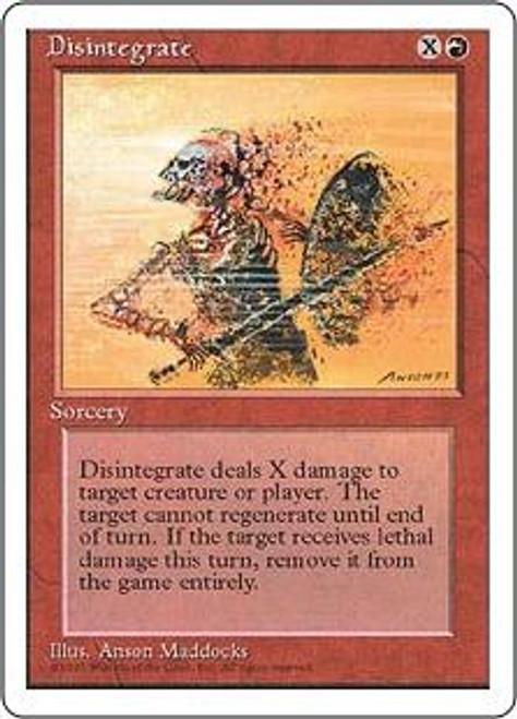 MtG 4th Edition Common Disintegrate
