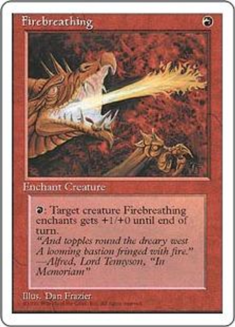 MtG 4th Edition Common Firebreathing