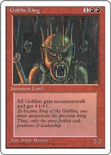 MtG 4th Edition Rare Goblin King