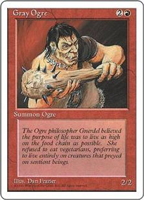 MtG 4th Edition Common Gray Ogre
