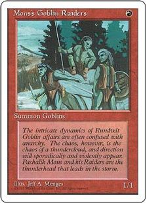 MtG 4th Edition Common Mons's Goblin Raiders