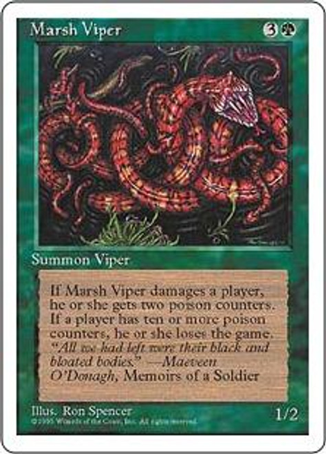 MtG 4th Edition Common Marsh Viper
