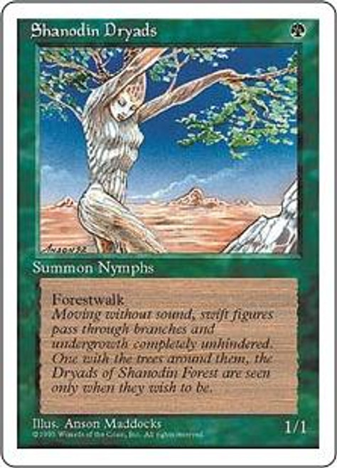 MtG 4th Edition Common Shanodin Dryads