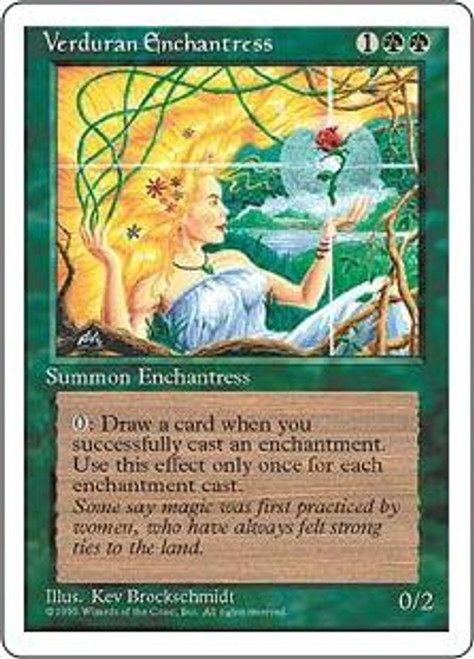 MtG 4th Edition Rare Verduran Enchantress