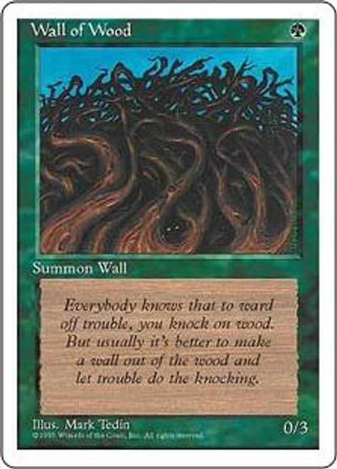MtG 4th Edition Common Wall of Wood