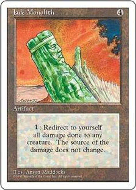 MtG 4th Edition Rare Jade Monolith