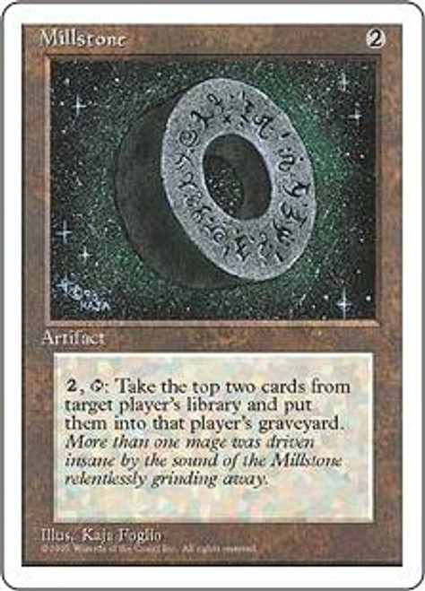 MtG 4th Edition Rare Millstone