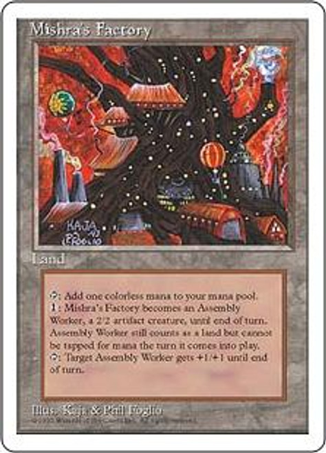 MtG 4th Edition Uncommon Mishra's Factory [Played]