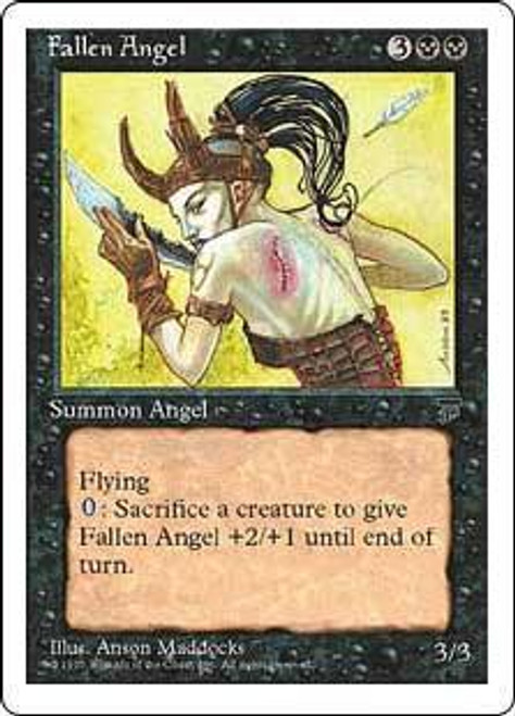 MtG Chronicles Uncommon Fallen Angel [Italian, Signed]