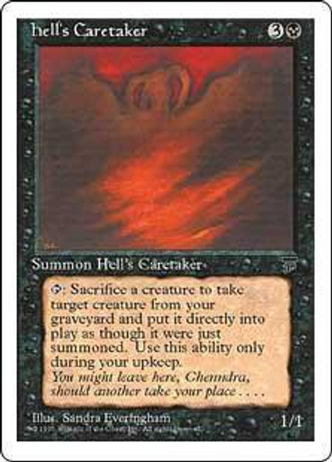 MtG Chronicles Rare Hell's Caretaker [Slightly Played Condition]
