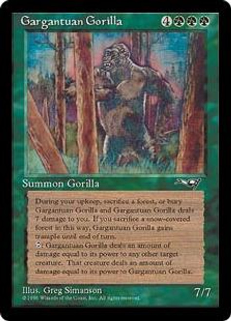MtG Alliances Rare Gargantuan Gorilla [Played Condition]