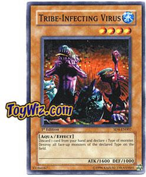 YuGiOh GX Structure Deck: Fury from the Deep Common Tribe-Infecting Virus SD4-EN007